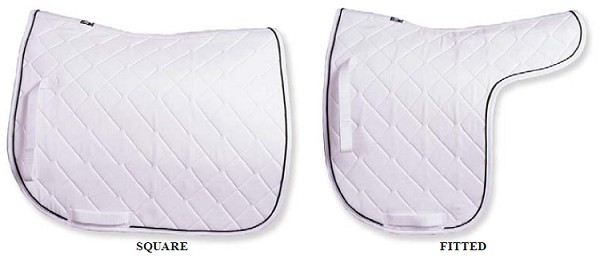 Jack's Custom Quilted Dressage Saddle Pad-Free monogram or Breed Logo!